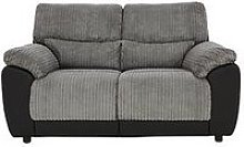 Sienna Fabric/Faux Leather Static 2 Seater Sofa