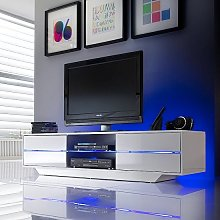 Sienna TV Stand Unit In High Gloss White With