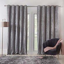 Sienna Valencia Crinkle Velvet Curtains Pair of