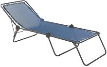Siesta L Reclining Sun Lounger Lafuma Colour: Blue