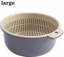 Sieve Strainer Double Plastic Drain Basket Kitchen