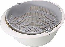 Sieve Strainer Drain Basket Double-Layer Plastic