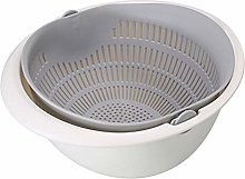 Sieve Strainer Drain Basket Double-Layer Plastic