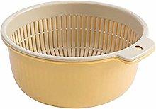 Sieve Strainer Kitchen Double Drain Basket Bowl