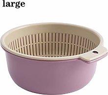 Sieve Strainer Kitchen Thickened Drain Basket Bowl