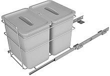 Sige Waste Pull-Out Basket, Grey, 400mm