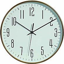 SIGN Wall Clock, 25 cm, Gold, Pendant, 25 cm