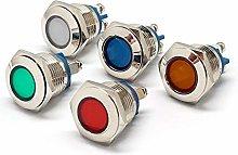 Signal Light 16mm Dia 12v Metal LED Pilot Panel