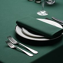 Signature Circular Tablecloth No Join Forest Green