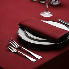 Signature Circular Tablecloth No Join Maroon 132