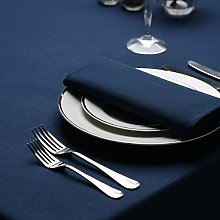 Signature Circular Tablecloth No Join Navy 132 Dia