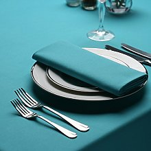 Signature Circular Tablecloth No Join Turquoise