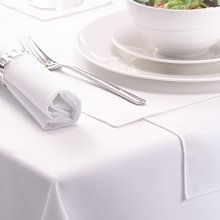 Signature Circular Tablecloth No Join White 132