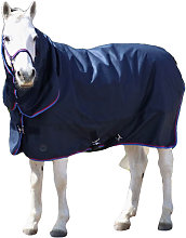 Signature Horse Turnout Rug (7´) (Navy/Red/Blue)