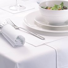 Signature White Circular Tablecloth 230cm