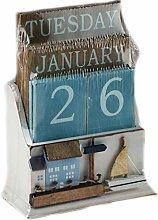 SiL Interiors Nautical Wooden Perpetual Calendar