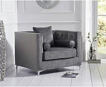 Silas Armchair Canora Grey Upholstery Colour: Grey