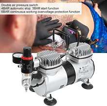 Silent Airbrush Compressor Paint Double Action