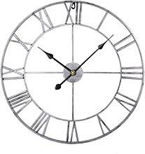 Silent Metal Skeleton Wall Clock,60Cm European