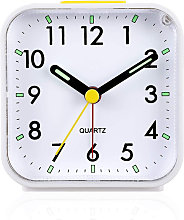 Silent No Ticking Analog Alarm Clock, Soft Wake