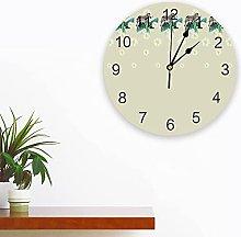 Silent Round Wall Clock Tropical Animal Zebra