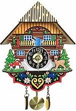 Silent Simulation Wood Clock, Copy Cuckoo Clock