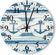 Silent Vintage Wooden Round Wall Clock Arabic