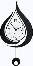 Silent Wall Clock Diy Water Drop Swingable Large