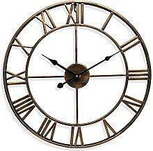Silent Wall Clock,European Farmhouse Vintage Clock
