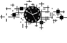 Silent Wall Clock Punch-free DIY Wooden Grain