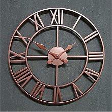 Silent Wall Clock Retro Roman Numerals Silent Wall