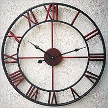 Silent Wall Clock Roman Numerals Retro Silent Wall