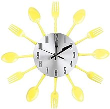 Silent Wall Clock Silent Stainless Steel Cutlery