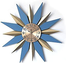 Silent Wall Clock with Metal Dial with Geometry