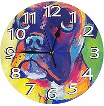 Silent Wall Clocks 10 Inch Battery Operated Animal