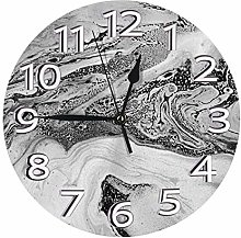 Silent Wall Clocks 10 Inch Battery Operated Black