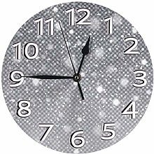 Silent Wall Clocks 10 Inch Battery Operated Bling