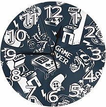 Silent Wall Clocks 10 Inch Battery Operated Blue