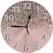 Silent Wall Clocks 10 Inch Battery Operated Blush