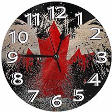 Silent Wall Clocks 10 Inch Battery Operated Canada