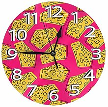 Silent Wall Clocks 10 Inch Battery Operated Cheese