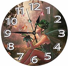 Silent Wall Clocks 10 Inch Battery Operated Fairy