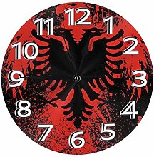 Silent Wall Clocks 10 Inch Battery Operated Red