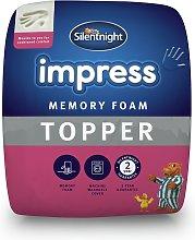 Silentnight 2.5cm Memory Foam Mattress Topper -