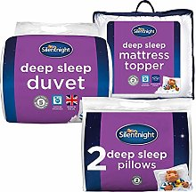 Silentnight Deep Sleep Bed Bundle - x2 Pillows,
