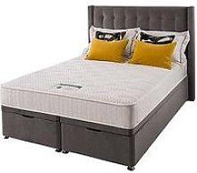 Silentnight Isla Velvet 1000 Memory Ottoman Storage Double Divan Bed