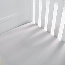Silentnight Kids Grey Cot Cotton Fitted Sheets
