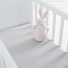 Silentnight Kids Grey Crib Cotton Fitted Sheets