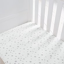 Silentnight Kids Grey Star Cot Fitted Sheets -