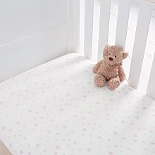 Silentnight Kids Pink Star Cot Cotton Fitted Sheets
